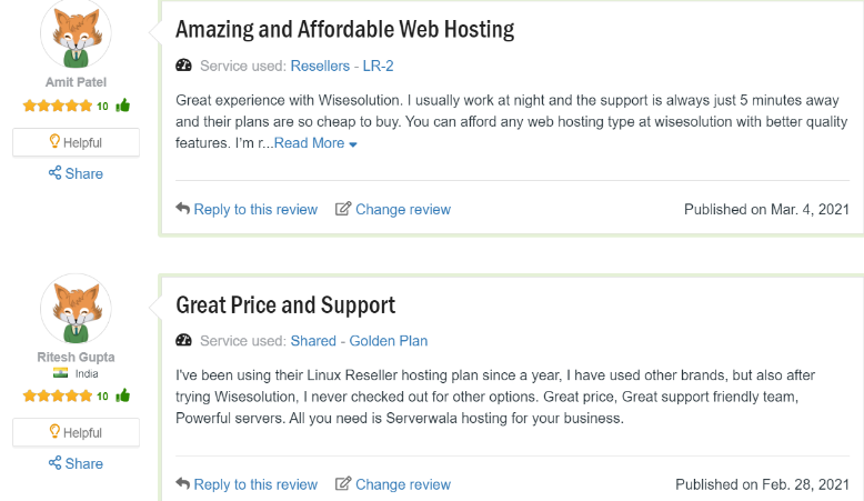 Customer Review on Wisesolution